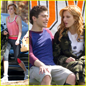Bella Thorne Whips Her Hair Back & Forth on 'Mostly Ghostly 2' Set