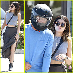 Kylie Jenner Bares Midriff at Bui Sushi Lunch with Dad Bruce