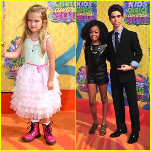 Mia Talerico, Skai Jackson & Cameron Boyce - Kids' Choice Awards 2014!