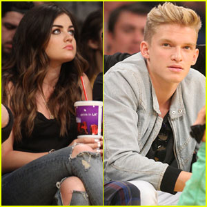 Lucy Hale & Cody Simpson: Courtside Lakers Fans!