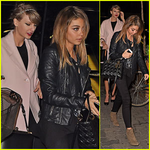 Taylor Swift & Sarah Hyland Hit Up Off-Broadway Play Together - See the Pics!
