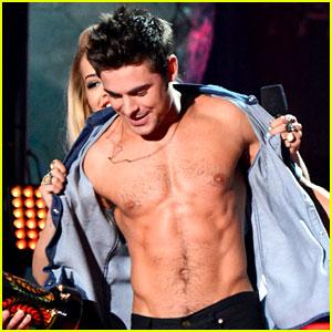 Rita Ora Strips Zac Efron Of His Shirt After WIN at MTV Movie Awards 2014