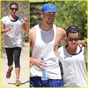 Lea Michele & Matthew Paetz Enjoy Hump Day Hikes in Hollywood