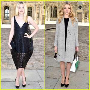 Dakota Fanning & Natalie Dormer Dress Up For Dior Show at Paris Fashion Way