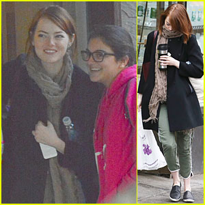 Emma Stone Talks About Kissing Josh Groban - Watch Now!