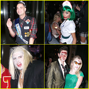 Mark Salling & Ashley Madekwe Party it Up for Halloween