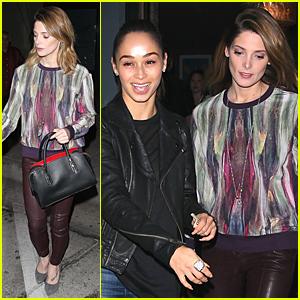 Ashley Greene & Cara Santana Meet Up For Dinner Before Thanksgiving