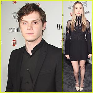 Evan Peters & Taissa Farmiga Bring American Horror Story to Vanity Fair Young Hollywood Celebration