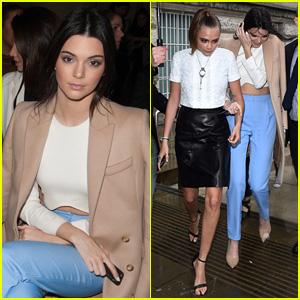 Kendall Jenner & Cara Delevingne Team Up for London Fashion Week!