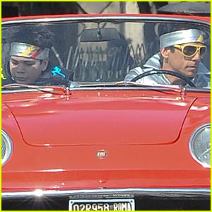 Cyrus Arnold & Ben Stiller Get Flashy on 'Zoolander 2' Set