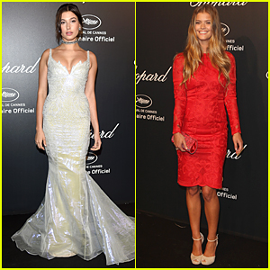 Hailey Baldwin Takes Off Medical Boot For Cannes Chopard Party