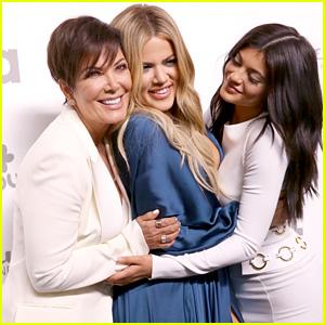 Kylie Jenner Attends NBC Upfront With Mom Kris & Sister Khloe Kardashian