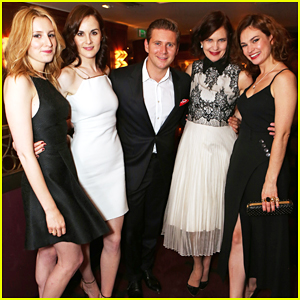 Lily James & 'Downton Abbey' Cast Celebrate at Wrap Party!
