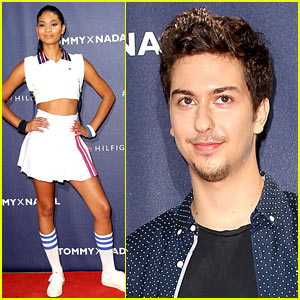 Nat Wolff Brings His Dad to Tommy Hilfiger's Tennis Event!