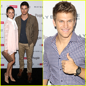 Italia Ricci Blows Kisses To Robbie Amell Inside People's One To Watch Party