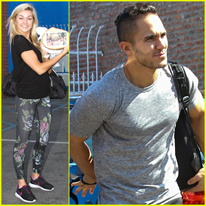 Lindsay Arnold Gets Gift From Fan Ahead of DWTS Practice with Carlos PenaVega