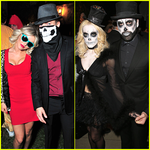 Julianne & Derek Hough Celebrate Halloween With Peta Murgatroyd & Maks Chmerkovskiy