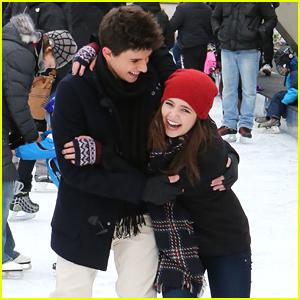 Bailee Madison & Rhys Matthew Bond Go Ice Skating in Toronto - See The Cute Pics!