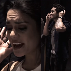 Vanessa Hudgens & Carlos PenaVega Record 'Grease Is The Word' With Jessie J