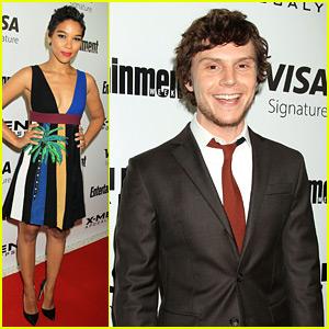 Alexandra Shipp & Evan Peters Attend 'X-Men' Screening in NYC!