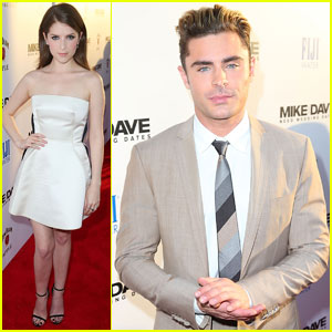 Zac Efron Suits Up for 'Mike & Dave Need Wedding Dates' Premiere With Anna Kendrick