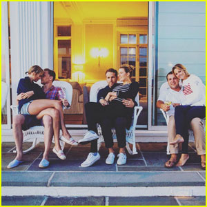 Taylor Swift & Tom Hiddleston Couple Up in Cute Photo With Blake Lively & Ryan Reynolds!