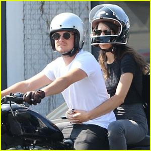 Josh Hutcherson & Girlfriend Claudia Traisac Enjoy a Motorycle Ride Around Hollywood