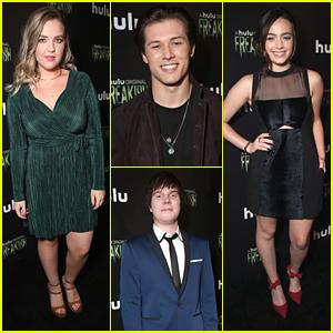 Leo Howard, Adam Hicks & Aislinn Paul Hit 'Freakish' Premiere in Hollywood