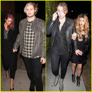 5SOS's Michael Clifford & Luke Hemmings Party With Girlfriends For Grammys Weekend 2017