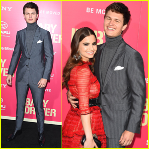 Ansel Elgort is Joined by Girlfriend Violetta Komyshan at 'Baby Driver' Premiere