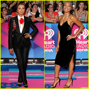 Kat Graham Suits Up for iHeartRadio MMVAs with Keke Palmer!