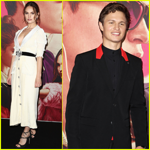 Ansel Elgort & Lily James Step Out in Australia For 'Baby Driver' Premiere