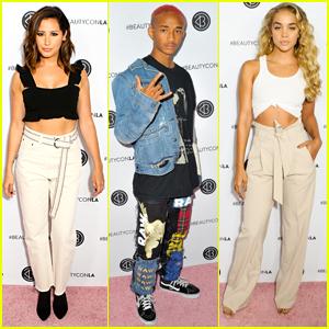 Ashley Tisdale, Jaden Smith, & Jasmine Sanders Spend the Weekend at Beautycon!