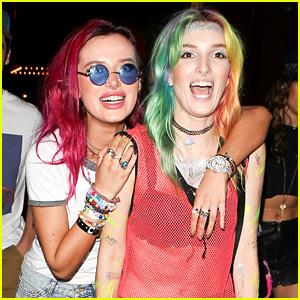Bella Thorne & Sister Dani Have Colorful Night at Avalon Nightclub