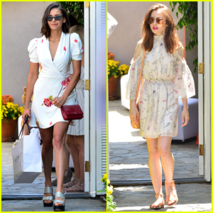 Nina Dobrev Indulges at Jennifer Klein Party with Lily Collins!