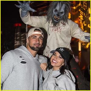 Becky G's Eyes Are Still Blue on Her Halloween Horror Date Night with Boyfriend Sebastian Lletget