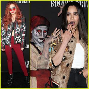 Bella Thorne & Sofia Carson Have a Spooky Night at Knott's Scary Farm!