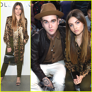 Thylane Blondeau Sits Front Row at Michael Kors Collection NYFW Show