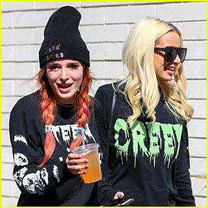 Bella Thorne Grabs Lunch with Girlfriend Tana Mongeau