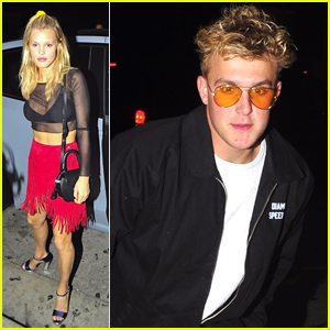 Jake Paul Dines Out with Model Joy Corrigan in LA
