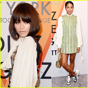 Zendaya Joins Laura Harrier at a Louis Vuitton Event in NYC