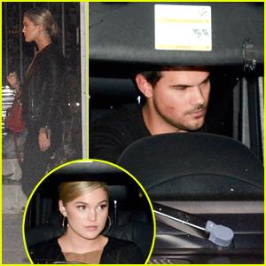 Taylor Lautner & Olivia Holt Attend Church Service Together in LA