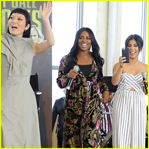 Hana Mae Lee, Ester Dean, & Chrissie Fit Screen 'Pitch Perfect 3' at a School in Miami!