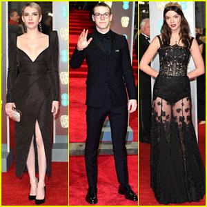 Emma Roberts, Will Poulter & Anya Taylor-Joy Walk Red Carpet at BAFTAs 2018