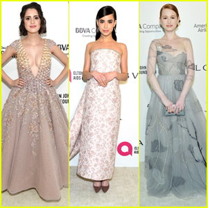 Laura Marano & Sofia Carson Join Madelaine Petsch at EJAF's Oscar Viewing Party 2018