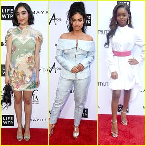 Rowan Blanchard, Inanna Sarkis & Marsai Martin Step Out in Style for Fashion Los Angeles Awards 2018