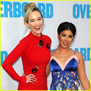 Chrissie Fit & Kelley Jakle Are BFF's at 'Overboard' Premiere