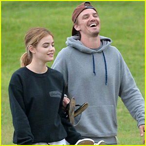 Lucy Hale & Riley Smith Play Cornhole in Hawaii After 'Life Sentence' Cancellation
