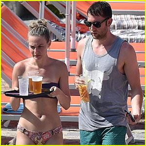 Matthew Lewis (aka Neville Longbottom) Hits the Beach Before His Wedding!