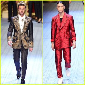 Cameron Dallas & Nash Grier Walk The Runway In Dolce&Gabbana Fashion Show